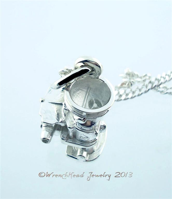 Sterling Silver Stromberg 97 Carburetor Pendant by Robert West of WrenchHead Jewelry 07 WM (Large)